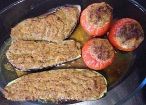 Légumes farcis cuits