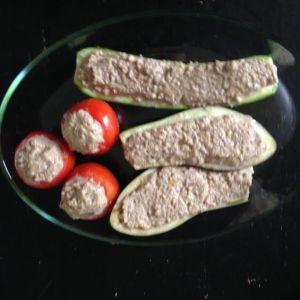 Légumes farcis prêts à cuire